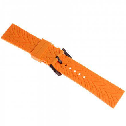 Pasek do zegarka Vostok Europe Pasek Expedition - Silikon (4197) pomarańczowy czarna klamra