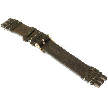 Pasek do zegarka Vostok Europe Pasek Energia 3 XL - Skóra (O540) brązowy pleciony różowa klamra