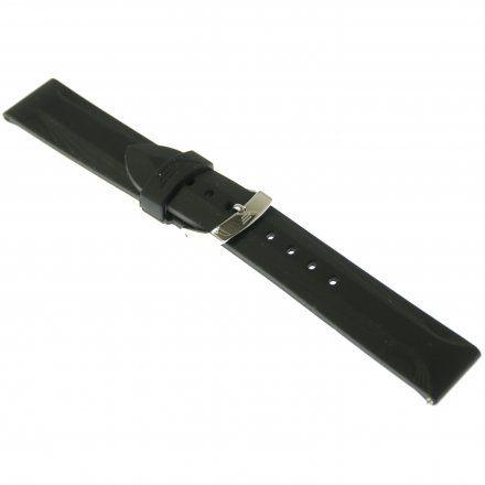 Pasek do zegarka Vostok Europe Pasek Undine - Silikon (A523) czarny stalowa klamra