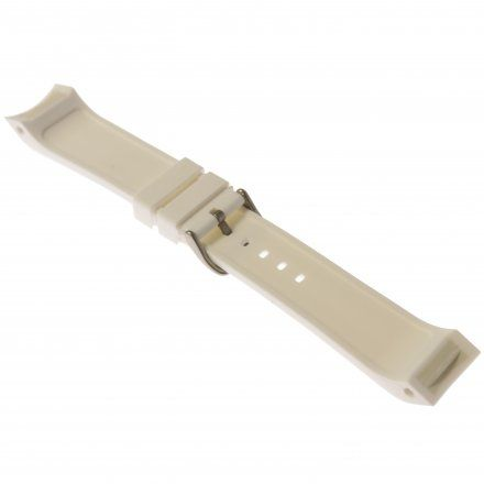 Pasek do zegarka Vostok Europe Pasek Mriya II - Silikon (5233) biały matowa klamra