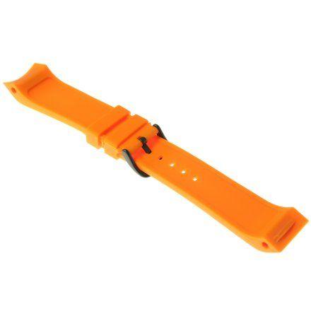 Pasek do zegarka Vostok Europe Pasek Mriya II - Silikon (4234) pomarańczowy czarna klamra