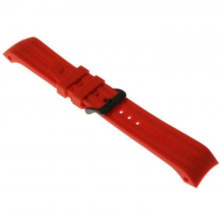 Pasek do zegarka Vostok Europe Pasek Mriya II - Silikon (4250) czerwony czarna klamra