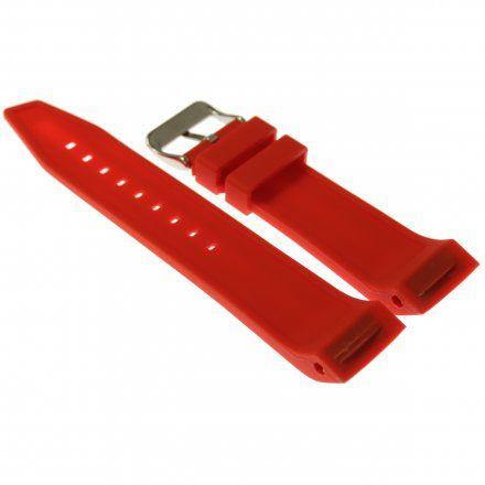 Pasek do zegarka Vostok Europe Pasek Mriya II - Silikon (5235) czerwony błyszcząca klamra