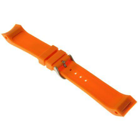 Pasek do zegarka Vostok Europe Pasek Mriya II - Silikon (5233) pomarańczowy matowa klamra
