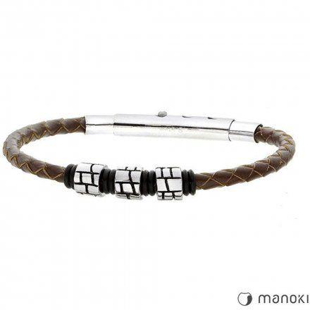 Biżuteria Manoki skórzana bransoletka męska BA443A
