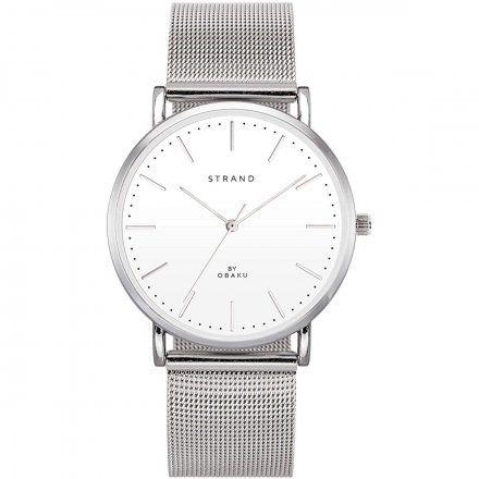 S702GXCWMC Srebrny zegarek Męski Strand by OBAKU