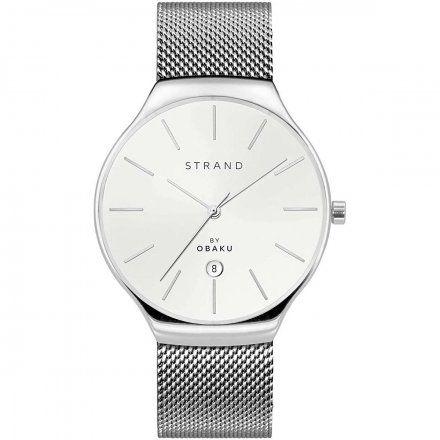 S701GDCWMC Srebrny zegarek Męski Strand by OBAKU