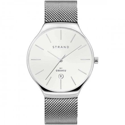 S701GDCWMC Srebrny zegarek Męski Strand