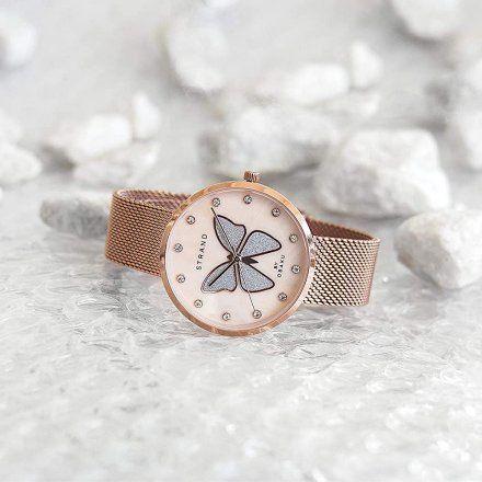 S700LXVVMV-DB Rózowozłoty zegarek Damski Strand