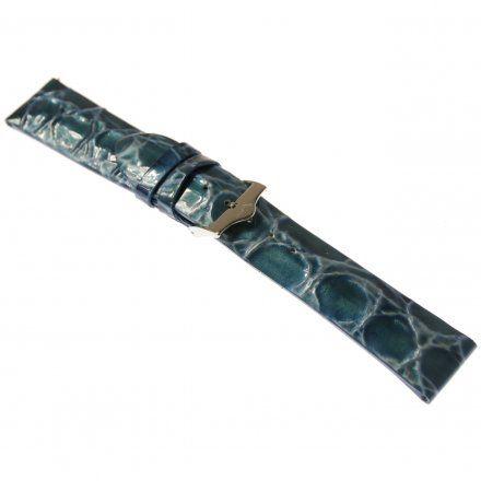 Pasek do zegarka Vostok Europe Pasek Rocket N1 - Damski (5162) niebieski perłowy stalowa klamra
