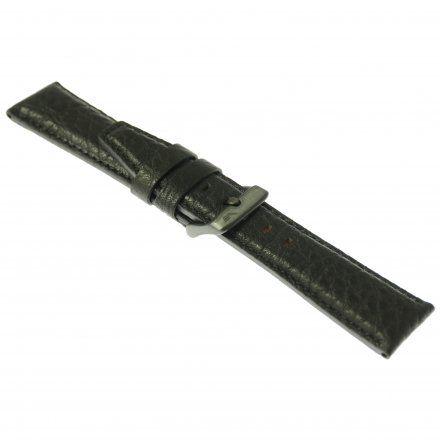 Pasek do zegarka Vostok Europe Pasek Gaz-14 - Skóra 565 (C597) czarny gnieciony czarna klamra