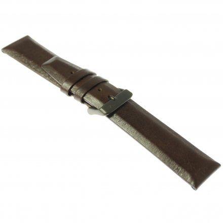 Pasek do zegarka Vostok Europe Pasek Gaz-14 - Skóra 560 (C520) brązowy gładki czarna klamra