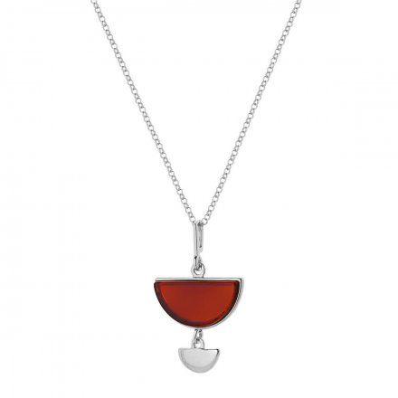 Naszyjnik srebrny z bursztynem Biżuteria Ditta Zimmermann DZN344/BUR/R