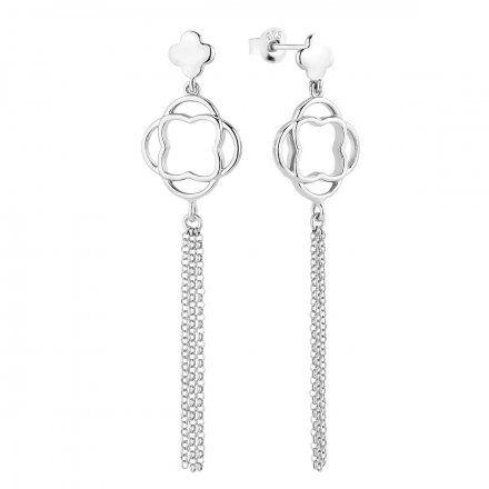 Kolczyki srebrne Biżuteria Ditta Zimmermann DZK383/MRC/R