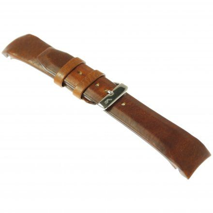 Pasek do zegarka Vostok Europe Pasek Gaz-14 - Skóra 565 (A292) brązowy jasny gładki błyszcząca klamra