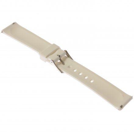 Pasek do zegarka Vostok Europe Pasek Undine - Silikon (A524) biały stalowa klamra