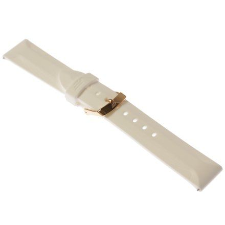 Pasek do zegarka Vostok Europe Pasek Undine - Silikon (B528) biały różowa klamra