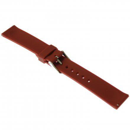 Pasek do zegarka Vostok Europe Pasek Undine - Silikon (E567) purpurowy stalowa klamra
