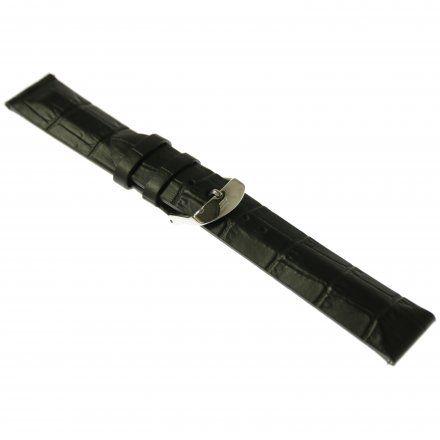 Pasek do zegarka Vostok Europe Pasek Undine - Skóra (A523) czarny croco stalowa klamra
