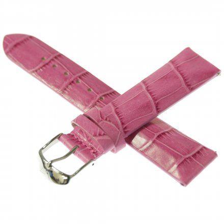 Pasek do zegarka Vostok Europe Pasek Undine - Skóra (A525) różowy croco stalowa klamra