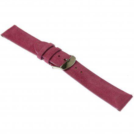 Pasek do zegarka Vostok Europe Pasek Undine - Skóra (A525) różowy gładki stalowa klamra