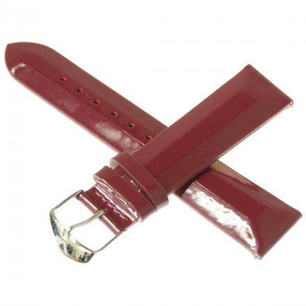 Pasek do zegarka Vostok Europe Pasek Undine - Skóra (E567) purpurowy gładki stalowa klamra