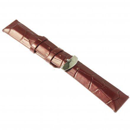 Pasek do zegarka Vostok Europe Pasek Undine - Skóra (E567) purpurowy croco stalowa klamra