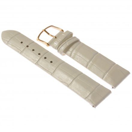 Pasek do zegarka Vostok Europe Pasek Undine - Skóra (B528) biały croco różowa klamra
