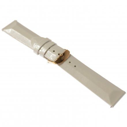 Pasek do zegarka Vostok Europe Pasek Undine - Skóra (B528) biały gładki różowa klamra