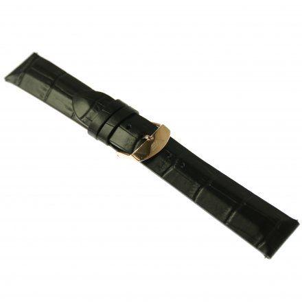 Pasek do zegarka Vostok Europe Pasek Undine - Skóra (B568) czarny croco różowa klamra
