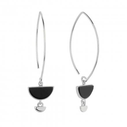 Kolczyki srebrne z onyksem Biżuteria Ditta Zimmermann DZK345/ONX/R
