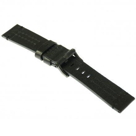 Pasek do zegarka Vostok Europe Pasek Ekranoplan 2 - Skóra (C510) czarny czarna klamra