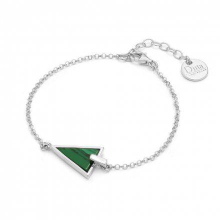 Bransoletka srebrna z malachitem Biżuteria Ditta Zimmermann DZB172/MAL/R