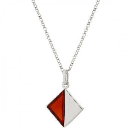 Naszyjnik srebrny z bursztynem Biżuteria Ditta Zimmermann DZN348/BUR/R
