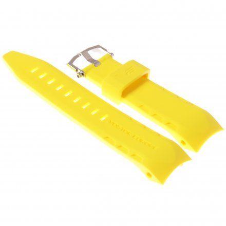 Pasek do zegarka Vostok Europe Pasek Lunokhod - Silikon (5206) żółty z błyszczącą klamra