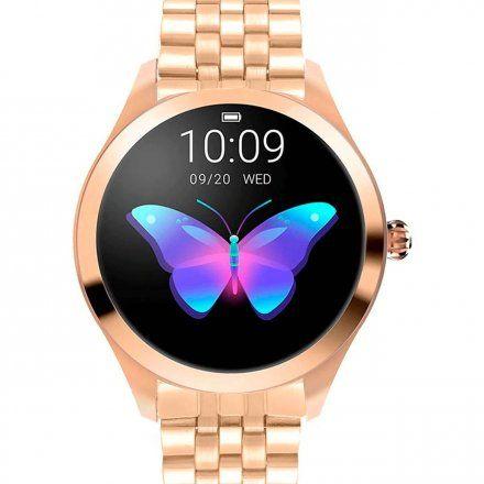 Różowozłoty smartwatch damski z bransoletką Pacific 06 -4