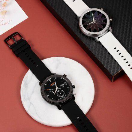 Smartwatch Pacific 17-1 Srebrny z bransoletką + Biały pasek