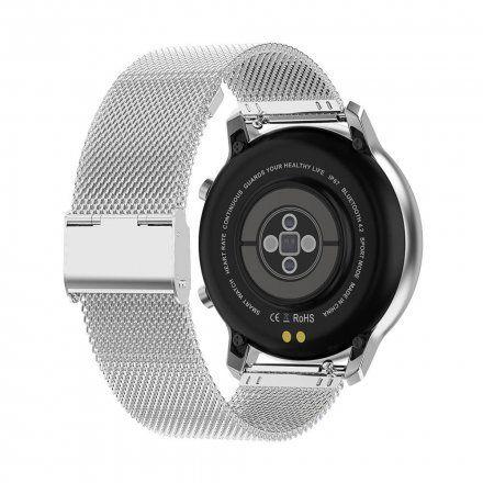 Smartwatch Pacific 17-2 Srebrny z bransoletką + Różowy pasek