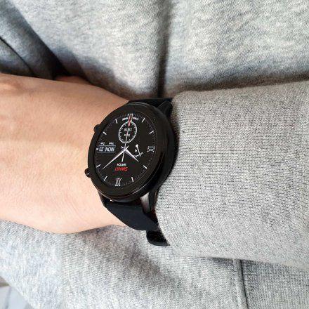 Smartwatch Pacific 17-4 Czarny z bransoletką + Czarny pasek