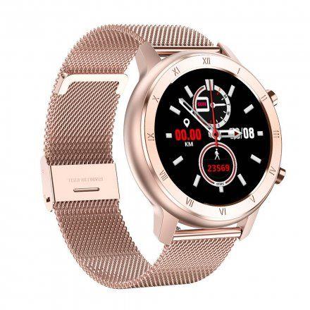 Smartwatch Pacific 17-5 Różowozłoty z bransoletką + Biały pasek