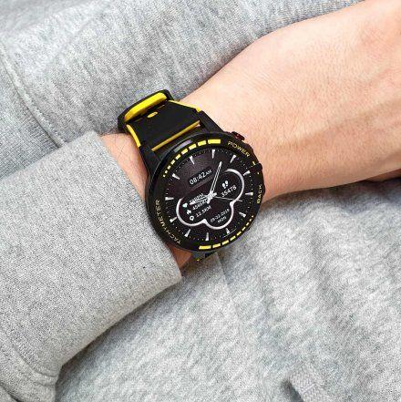 Sportowy Smartwatch Pacific 12-3 Żółty Rozmowy GPS Puls Kompas Kroki