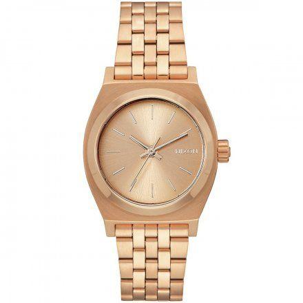 Zegarek Nixon Time Medium Teller All Rose Gold - Nixon A1130-897