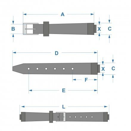 Pasek 10520558 Do Zegarków Casio  F-108WH-2A2 / W-216H-2B