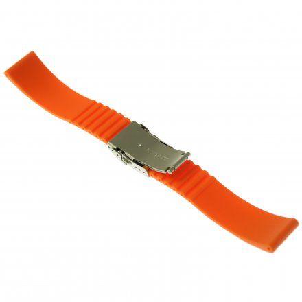Pasek do zegarka Vostok Europe Pasek Silikon VE - 22 mm pomarańczowy