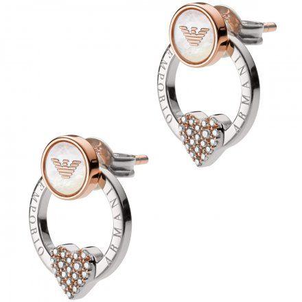 Kolczyki damskie Emporio Armani EG3471040 Oryginalna Biżuteria EA