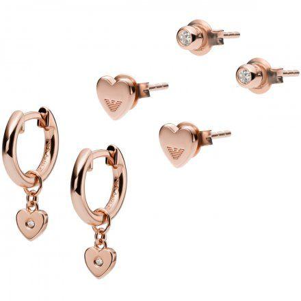 Zestaw kolczyków damskich Emporio Armani EG3508221 Oryginalna Biżuteria EA