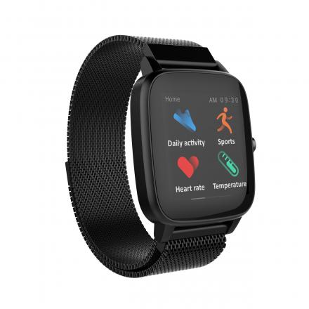 Smartwatch czarny z bransoletką Strand S716USBBMB