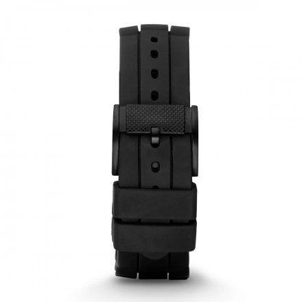 Czarny pasek silikonowy Fossil 24 mm Machine FS4487