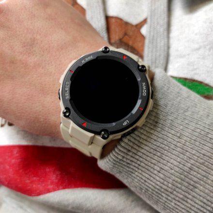 Amazfit wojskowy smartwatch T-Rex khaki beżowy smartwatch Huami W1919OV2N