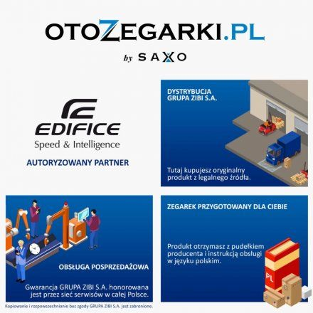 Zegarek Męski Casio EFV-610DC-1AVUEF Edifice Momentum EFV 610DC 1AV